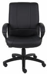 Caressoft™ Executive Mid Back Swivel - Black [B7906-FS-BOSS]