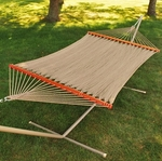 Caribbean 13' Tight Weave Soft Polyester Rope Two Person Hammock - Brown [4910-FS-ALG]