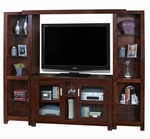 kathy ireland Home™ Carlton Collection 88'' Entertainment Wall Combination -Bourbon [CN350-CN970-CN491BR-FS-KIMF]