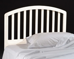 Carolina Solid Wood Headboard with Rails - Full or Queen - White [1109HFQR-FS-HILL]
