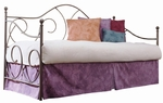Caroline Scrolled Metal Daybed with Link Spring - Flint [B10188-FS-FBG]
