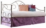 Caroline Scrolled Metal Daybed with Link Spring and Pop-Up Trundle - Flint [B10189-FS-FBG]
