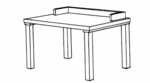 Carrel Table w/Rail [ST-32-HEL]