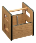 Carry-All Weight Box with High Pressure Oak Laminate Protective Finish - 14''W X 14''L X 14''H [HAU-8911-FS-HAUS]