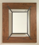 Carson Forge 30''W x 36''H Wooden Mirror with Wrought Iron Style Accents - Washington Cherry [415556-FS-SRTA]