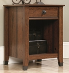 Carson Forge 19''W x 24''H Wooden Night Stand with Wrought Iron Style Accents - Washington Cherry [415050-FS-SRTA]