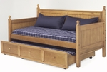 Casey Country Casual Wood Daybed with Roll Out Drawer Trundle - Honey Maple [B51C53-FS-FBG]