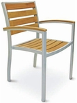 Cedar Key Collection Stackable Outdoor Arm Chair [AL-5602TK-FLS]