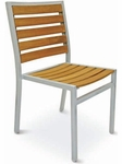 Cedar Key Collection Stackable Outdoor Side Chair [AL-5602-0-TK-FLS]
