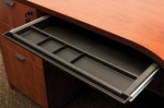 21''W x 16''D Center Desk Organizer Drawer - Black [CD1-FS-REG]