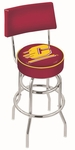 Central Michigan University 25'' Chrome Finish Swivel Counter Height Stool with Double Ring Base [L7C425CENMIC-FS-HOB]