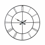 Centurian Roman Numeral Powder Coated Metal 30.5''W x 30''H Decorative Wall Clock - Black [WS1964R-FS-SENT]