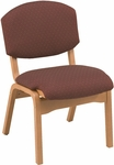 120 Series Stacking Wood Frame Guest Chair with Upholstered Back and Seat [CH120-IFK]