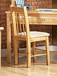 Rustic Style Solid Pine Chair - Caramel [3534542-C-FS-CHEL]