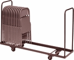 Welded Iron Folding Chair Truck with 4'' Casters and Handles - 19''D x 72''W [C1972-01-CRL]