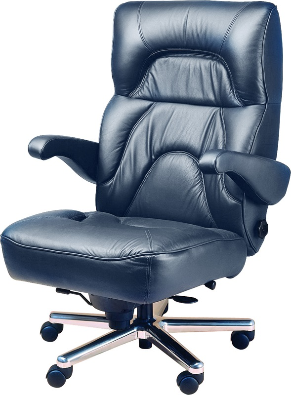 Chairman fice Chair with Wrap Around Headrest Leather