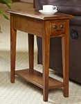 Favorite Finds 10''W x 24''H Chair Side Table with One Drawer and Display Shelf - Medium [9017-MED-FS-LCK]