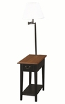 Chairside Lamp Table With Drawer - Antique Black [9037-SL-FS-LCK]