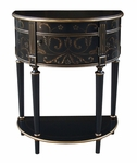 Chairside Table - Gold Tole Design [DS-517108-FS-PUL]