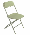 Champ Series Versatile Resin Wedding Folding Chair with Foot Caps - Beige [131036-MES]