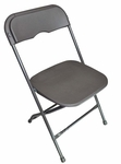 Champ Series Versatile Resin Wedding Folding Chair with Foot Caps - Charcoal Grey [131033-MES]