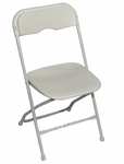 Champ Series Versatile Resin Wedding Folding Chair with Foot Caps - White [131001-MES]
