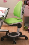 Moll Champion Kids Maximo Adjustable Desk Chair with Wide Five Armed Base and Casters - Lime Green [CHMAX-L-FS-EOS]