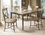 Charleston 5-Piece Rectangle Dining Set w/X-Back Chair [4670DTBRC2-FS-HILL]