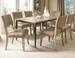 Charleston 7 Piece Dining Set with Rectangular Wood Table and 6 Parson Chairs - Desert Tan [4670DTBRC47-FS-HILL]