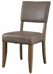 Charleston Wood 19.5''H Parson Chair with Brown Vinyl Seat - Set of 2 - Desert Tan [4670-804-FS-HILL]
