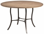 Charleston 48'' Diameter Round Wood Dining Table with Metal Base - Desert Tan [4670DTB-FS-HILL]