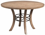 Charleston Wood and Metal 48'' Diameter Round Dining Table - Desert Tan [4670DTBW-FS-HILL]