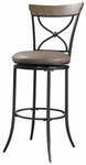 Charleston Swivel X-Back Counter Stool - Putty-Colored Vinyl [4670-826-FS-HILL]
