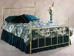 Chelsea Traditional Metal Bed Set with Rails - Full - Classic Brass [1036BFR-FS-HILL]