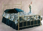 Chelsea Traditional Metal Bed Set with Rails - King - Classic Brass [1037BKR2-FS-HILL]