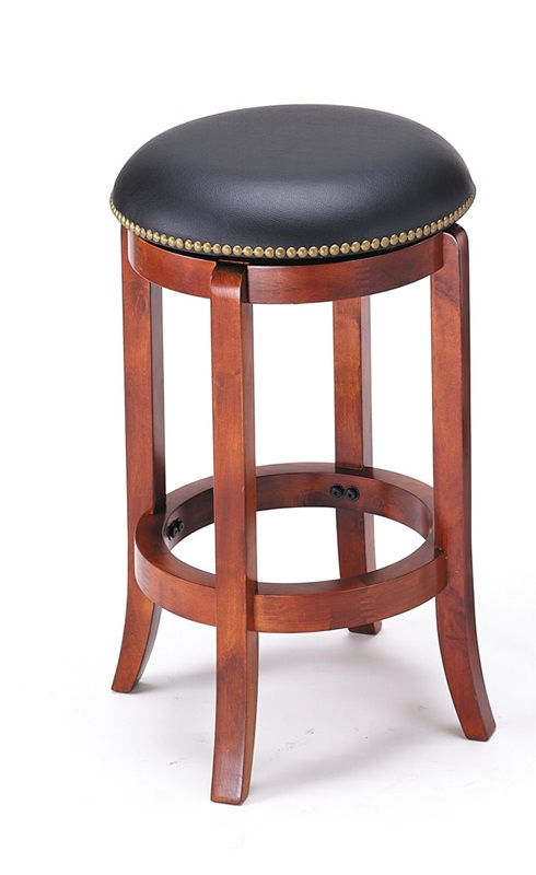 Chelsea Wood 24H Backless Swivel Bar Stool with Nailhead  : chelsea wood 24 h backless swivel bar stool with nailhead trim and faux leather seat vintage oak 07198 fs acm 3 from www.bizchair.com size 490 x 800 jpeg 71kB