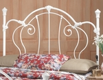 Cherie Metal Victorian Styled Headboard with Rails - King - Ivory [381HKR-FS-HILL]