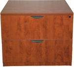 Cherry 2 Drawer Lateral File with Lock [ML112-CHERRY-FS-MAR]