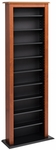 Slim Barrister Tower with 6 Adjustable Shelves - Cherry & Black [CMB-0400-FS-PP]