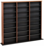 Triple Width Wall Storage with 21 Adjustable Shelves - Cherry & Black [CMA-0960-FS-PP]