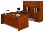 Cherry Bow Front Desk Executive U Suite [ML344-CHERRY-FS-MAR]