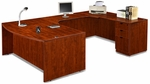 Cherry Bow Front Desk U Suite [ML343-CHERRY-FS-MAR]