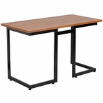 Cherry Computer Desk with Black Frame [NAN-JN-2811-GG]