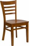 Cherry Finished Ladder Back Wooden Restaurant Chair [BFDH-8241CC-TDR]