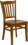 Cherry Finished Vertical Slat Back Wooden Restaurant Chair [BFDH-8242CC-TDR]
