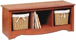 Monterey 48''W Cubbie Bench with 3 Open Storage Compartments - Cherry [CSC-4820-FS-PP]
