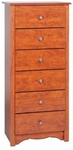 Monterey 6 Drawer 53.25''H Chest with Side Moldings and Pewter Finished Knobs - Cherry [CDC-2354-K-FS-PP]