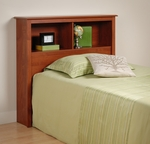 Monterey Twin Size Bookcase Headboard with 2 Open Storage Compartments - Cherry [CSH-4543-FS-PP]