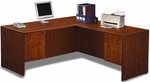 Cherry Simple Workstation with Hanging Pedestals [ML351-CHERRY-FS-MAR]