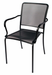 Chesapeake Black Stackable Outdoor Micro Mesh Arm Chair [SU1301CBL-BFMS]